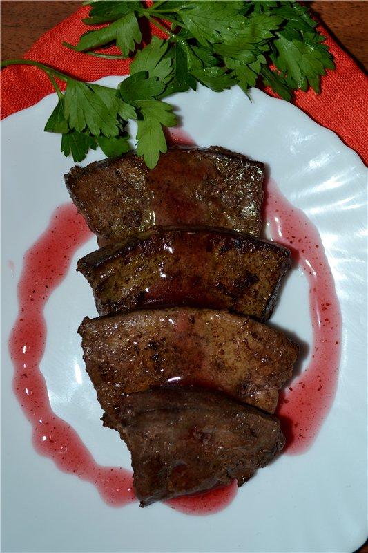 Рецепты печенка говяжья с подливой