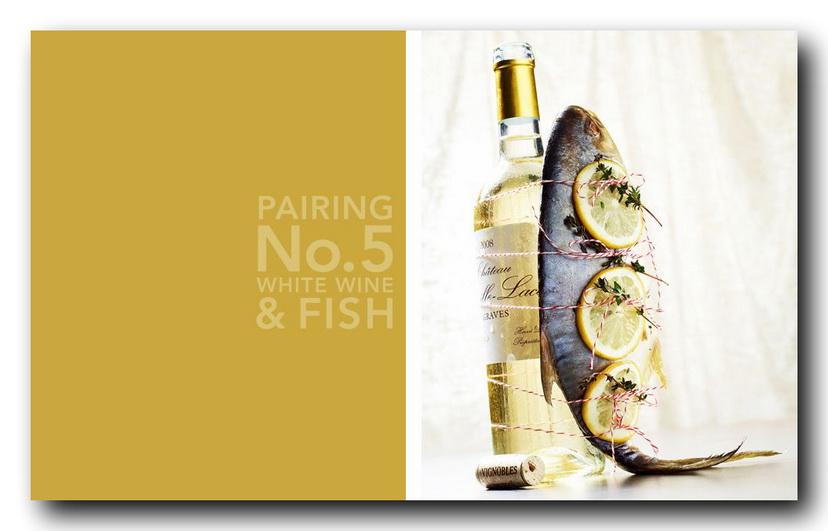 белое вино и рыба