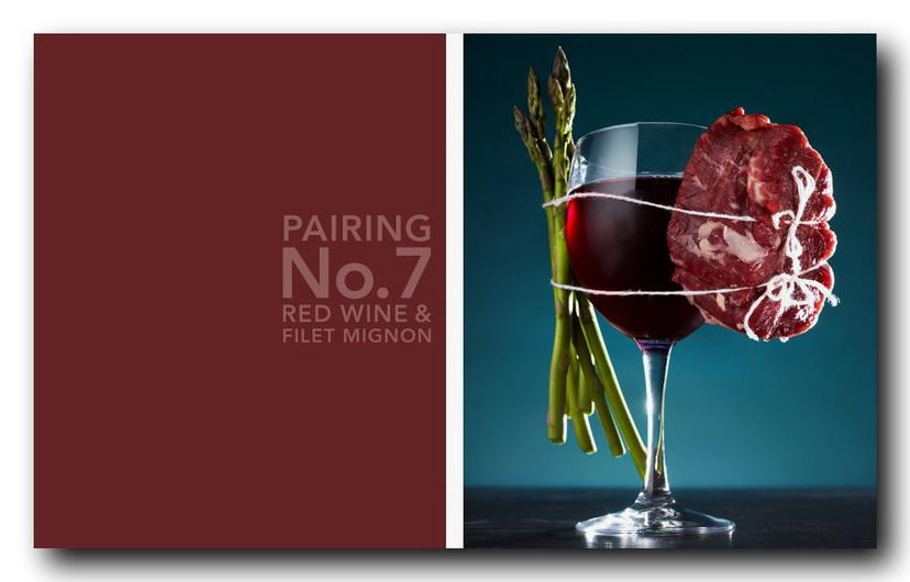красное вино и мясо