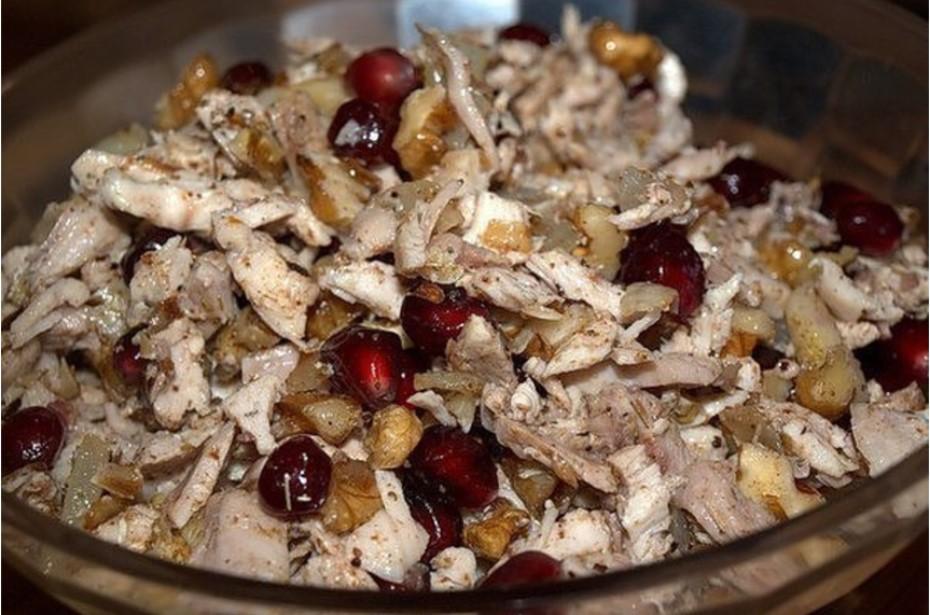 рецепт куриный салат с грузинскими мотивами