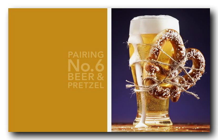 пиво и соленный рогалик