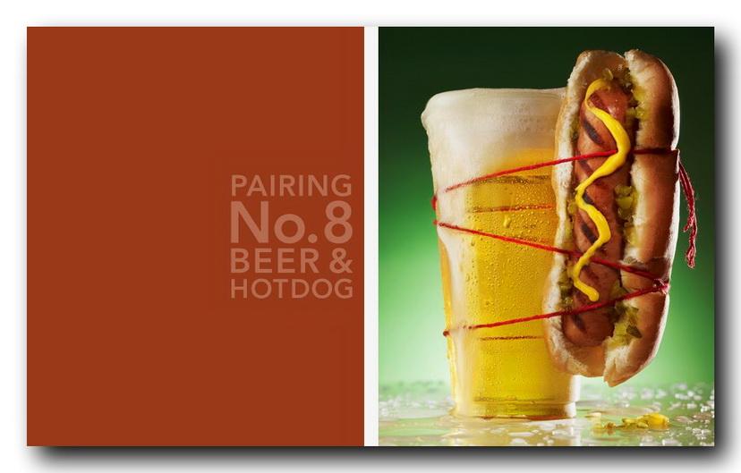 пиво и хот-дог