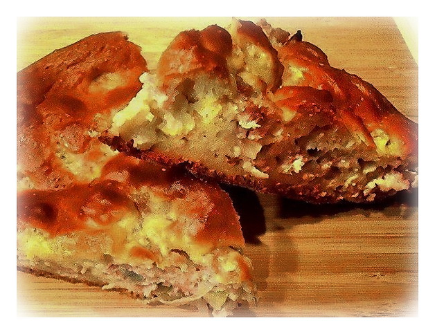 мясной наливной пирог