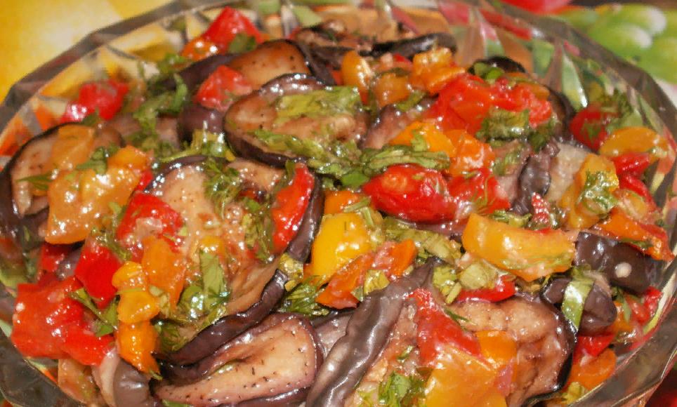 Салат с жаренными синенькими рецепт