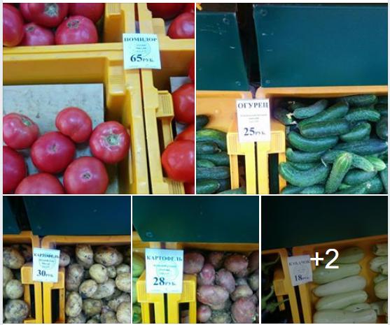 Про цены на овощи в конце июня 2018. Краснодар.