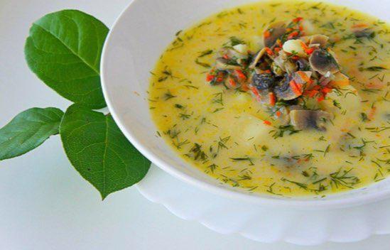 Грибной суп с сыром всего за 25 минут.Рецепт https://zen.yandex.ru/media/kaleidoscope/
