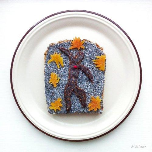 картины на хлебе