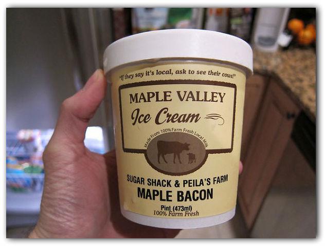 Кленовое мороженое со вкусом бекона