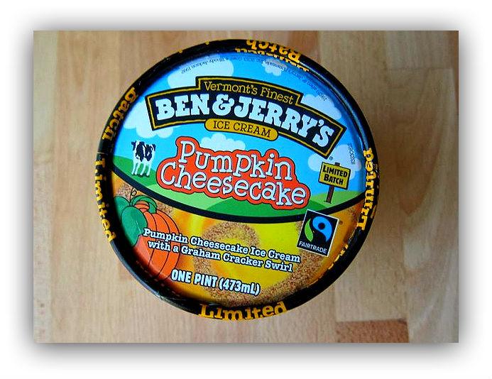Мороженое с вкусом тыквенного чизкейка