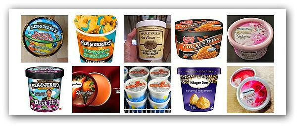 Топ-10 необычных вкусов мороженого