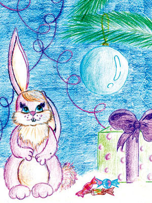 Как рисовать новогоднюю открытку своими руками