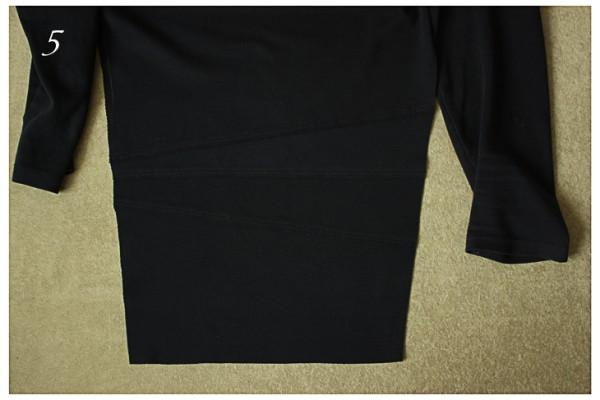 Нарезаем полосы для удлинения и пришиваем швом внахлест двумя строчками.  Можно прошить двойной иглой.