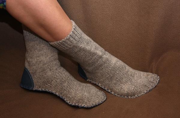 Чтобы вязанные носки не протирались