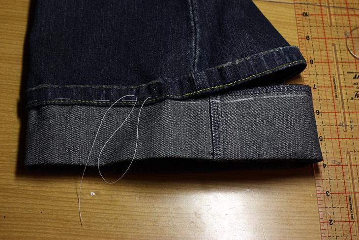 Как удлинить детские джинсы своими руками 17