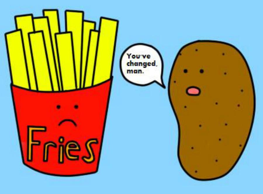 Прикольные картинки картошка фри, рабочий