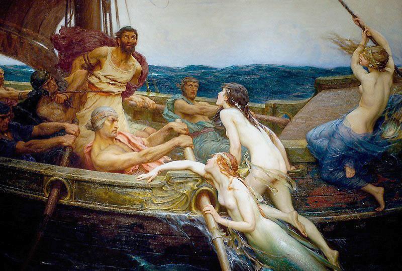 Одиссей и Сирены Герберт Джеймс Дрэйпер-1909