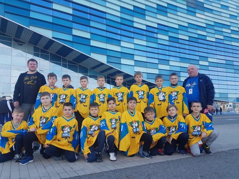 """Команда """"Приморье"""". Эта и все следующие фотографии предоставлены родителями юных хоккеистов."""