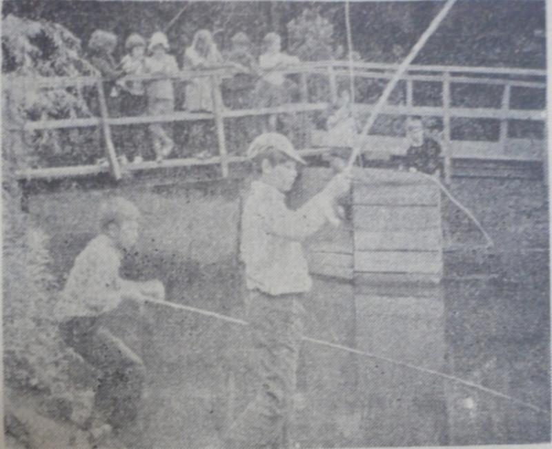 На рыбалке, 1979 год.
