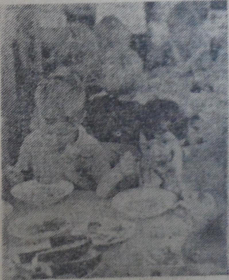 В столовой, 1978 год.