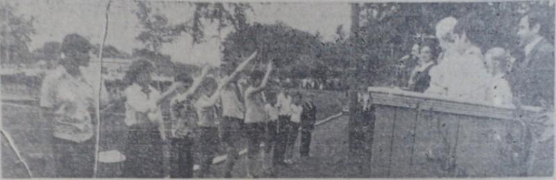 Председатели советов отрядов сдают рапорта, 1978 год.