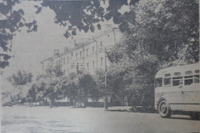 "Улица Некрасова, 1956 год, фото - газета ""Коммунар""."