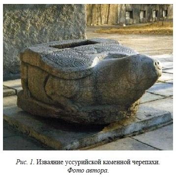 Фото каменной черепахи, опубликованное в журнале «Археология, этнография и антропология Евразии», автор фото - Надежда Артемьева. Здесь и далее скриншоты и иллюстрации из данного журнала.