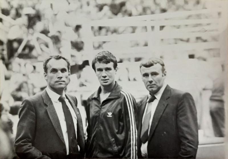 Чемпионат мира по боксу, Москва, 1989 год. Слева-направо: Анатолий Ващенко, Виктор Голубков и Александр Коровин.