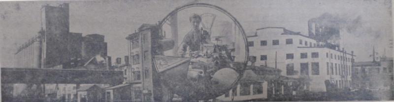 """На фото - масложиркомбинат в 1957 году. Фото - Е. Абезгауза, газета """"Коммунар""""."""
