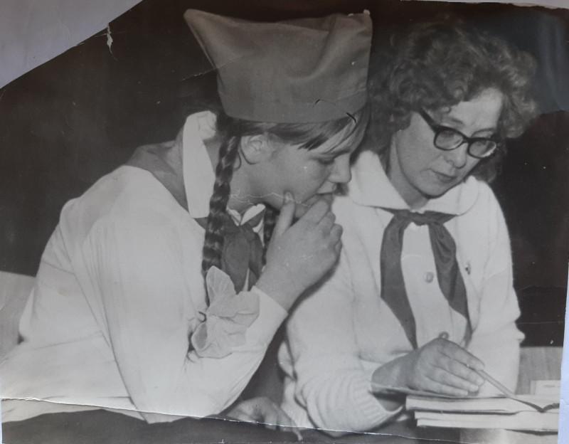 На слете пионеров в январе 1969 года, фото из семейного архива Аллы Лухиной.