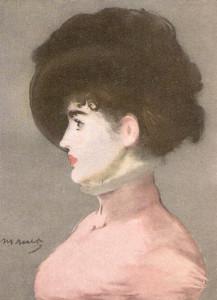 Моне Красивая девушка в шляпке - копия