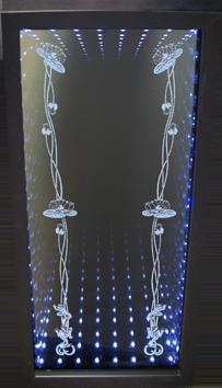 зеркало 3 d лилии