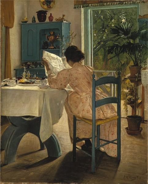 Laurits Andersen Ring (1854–1933). At Breakfast. 1898