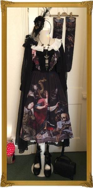 f skull dress
