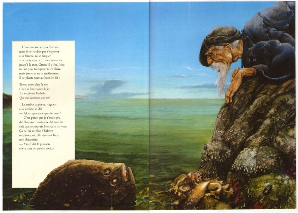 сказка братьев гримм рыбак и его жена