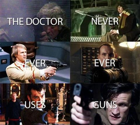 Meta: Guns and the Doctor.: doctorwho