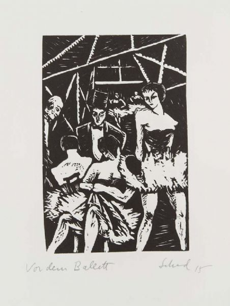 woodcut-4 Before the Ballet