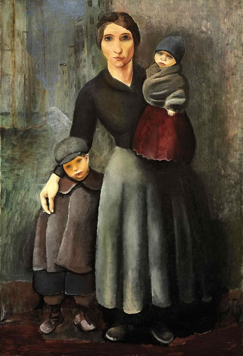 1927_The mother and her children