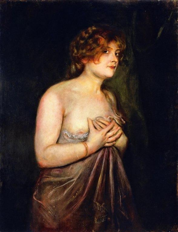 Resize of Franz von Lenbach (1836-1904)Fraulein Guschlbauer- Catherine La Rose