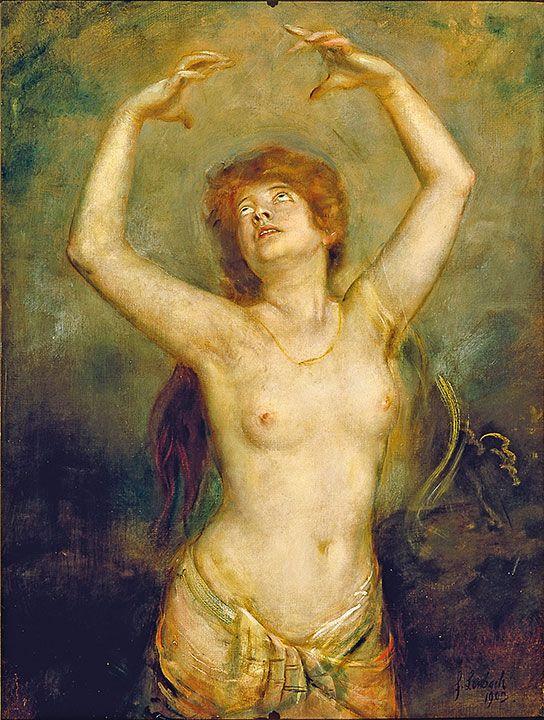 Franz von Lenbach (1836-1904)Ecstasy, 1903- Catherine La Rose