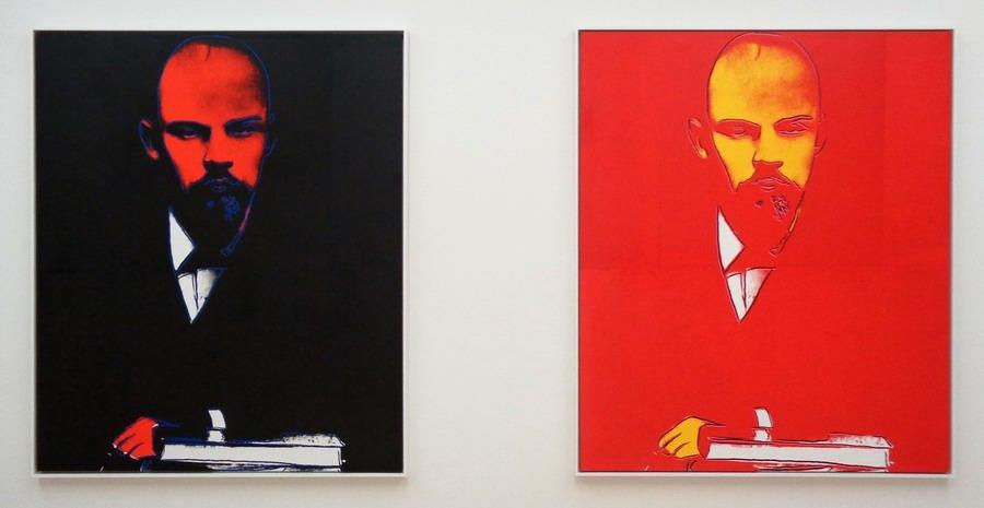 Andy Warhol - Lenin (schwarz 1988 und rot 1886), 1986