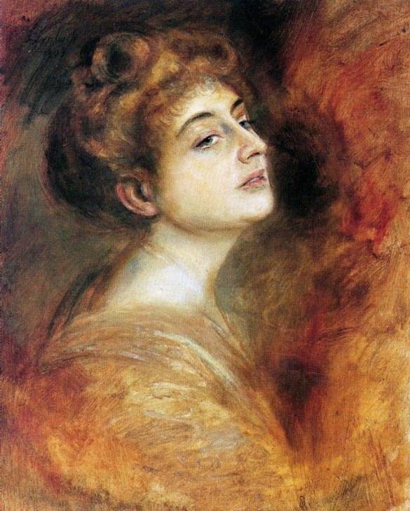 Resize of Franz von Lenbach (1836-1904)Lily Merk- Catherine La Rose