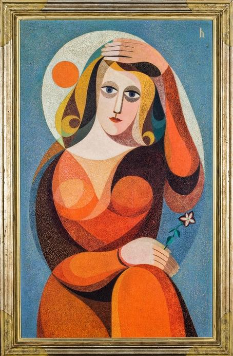 Кёльн, Музей Людвига Hoerle, Heinrich, Frau (Bildnis Trude Alex), 1933