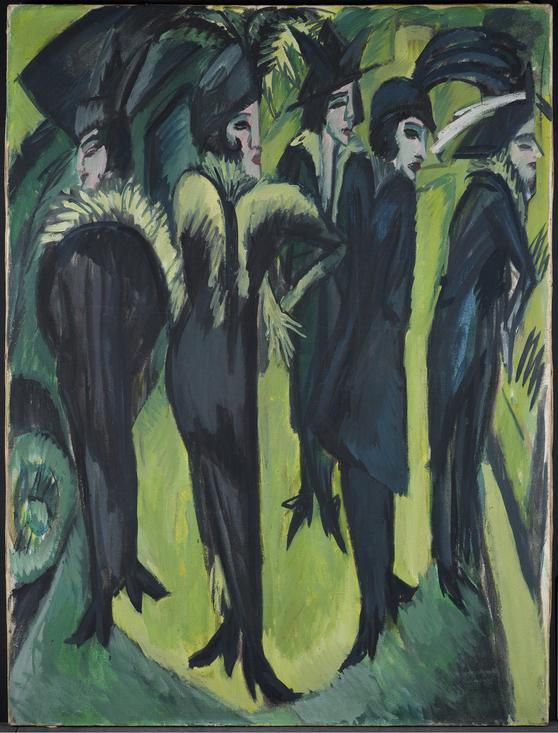 Кёльн, Музей Людвига Kirchner, Five Women on the Street, 1913