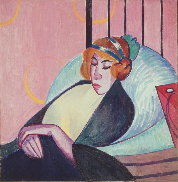 Bogomazov, Sleeping Woman, 1916