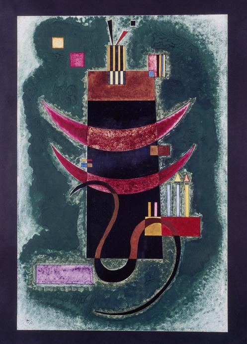 Kandinsky, Wassily Wassiljewitsch, Rotes Segment. 1927
