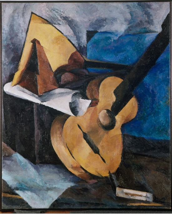 Lebedew-Schujski,Still Life with Guitar, 1920