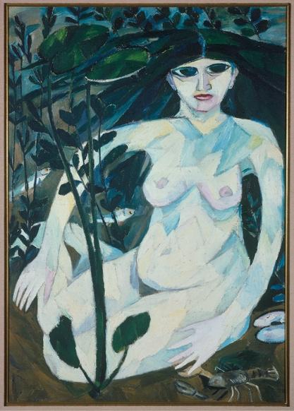 Goncharova, (Rusalka (Water Nymph)) 1908