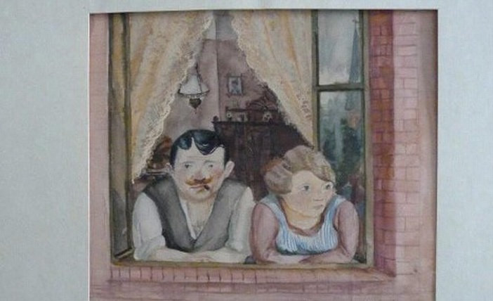 Resize of Wilhelm Lachnit's 'Man and Woman in the Window