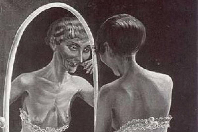 Resize of Otto Dix's 1922 painting 'Girl in front of the Mirror