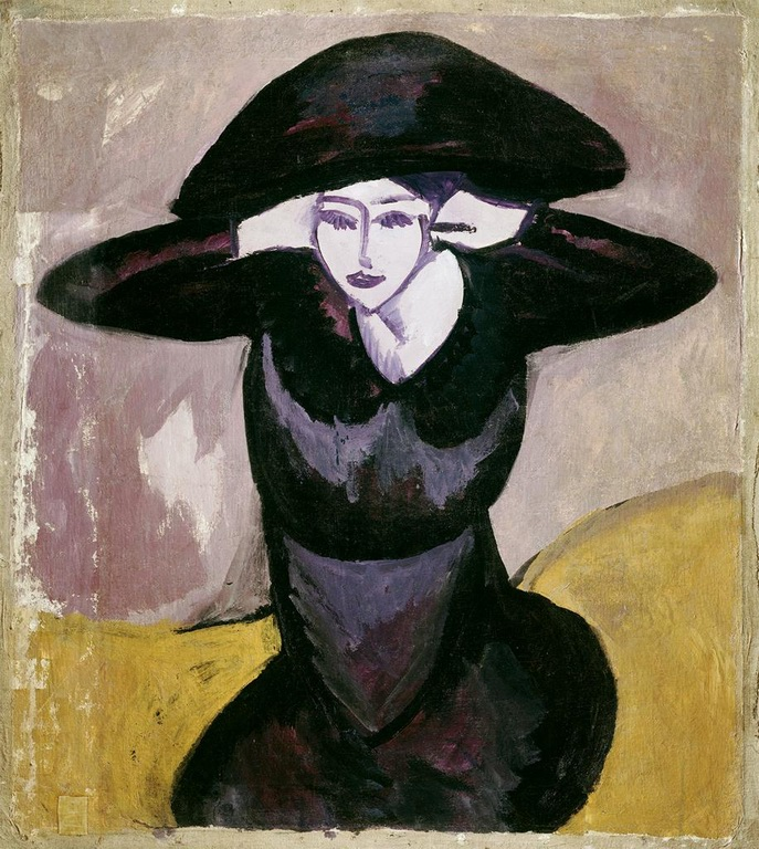 kirchner-1911-woman-in-a-hat